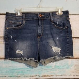 Arizona Jeans Distressed Shorts Size 13.